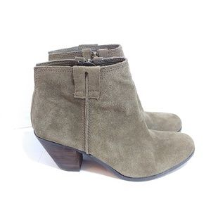 Sam Endelman green suede ankle boots